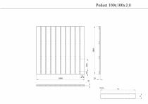 Podest tarasowy drewniany 100x100x2,8