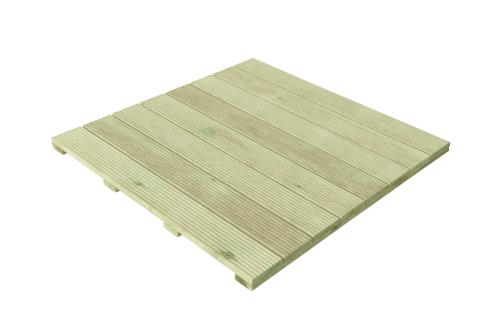 Gruby, solidy podest z drewna sosnowego - rozmiar 100 x 100 cm