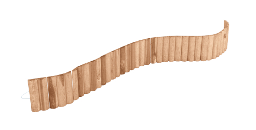 Płotek ogrodowy brązowy - obrzeże trawnikowe o długości 180 cm i wysokości 20 cm