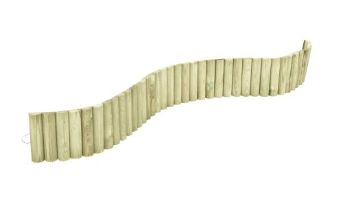 Rollborder z drewna sosnowego w naturalnym kolorze