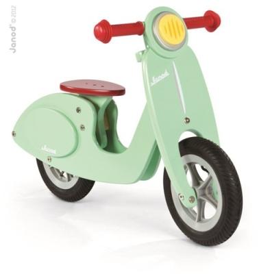 Rowerek biegowy drewniany Janod w pieknym, miętowym kolorze