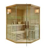 Sauna fińska z piecem EA3C 150x150 brązowy