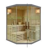 Sauna fińska z piecem EA3C 150x150 szary