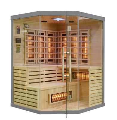 Drewniana sauna domowa prezentuje się bardzo elegancko