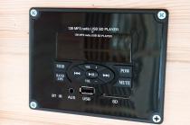 Multimedialne radio umili chwile podczas korzystania z sauny