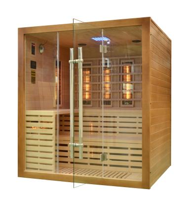 Sauna infrared w brązowym kolorze do montażu w domu lub mieszkaniu