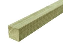 Gruby słupek drewniany w kolorze naturalnym