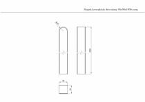 Wymiary szarego słupka drewnianego o długości 190 cm