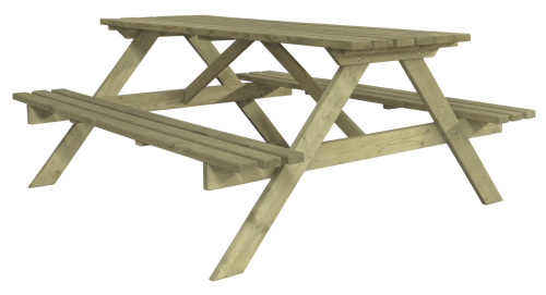 Stół drewniany z ławkami - idealny do ogrodu lub na działkę