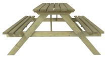 Stół grillowy z drewna sosnowego - impregnowany bezpiecznymi środkami