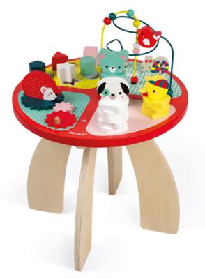 Edukacyjny stolik dla dzieci marki Janod - rozwój przez zabawę
