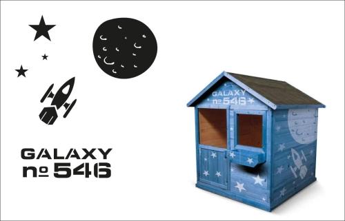 Zamień drewniany domek dla dzieci w statek kosmiczny