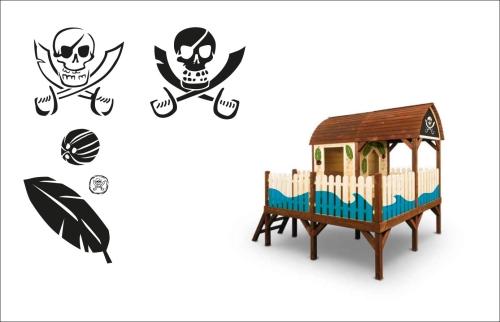 Piraci na pokład! Dekoracja domku za pomocą szablonów graficznych w pirackim klimacie
