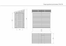Wymiary szopy ogrodowej przyściennej z drewna