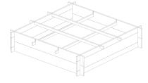 Warzywnik drewniany z kratką 100x100x20