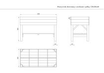 Warzywnik z nóżkami i półką 120x80x60