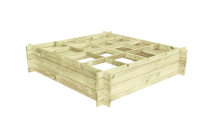 Warzywnik drewniany 120X120x27 z kratką