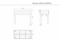 Wymiary skrzynki drewnianej 100x80x50 cm
