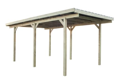 Wiata garażowa drewniana 304x500 PCV