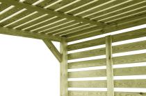 Drewniana architektura ogrodowa - oryginalna konstrukcja na pnącza