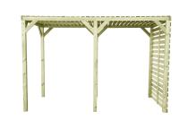 Pawilon z drewna sosnowego - ażurowe zadaszenie i ścianka