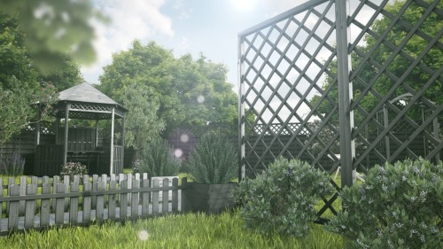 Ogród zrobiony na szaro